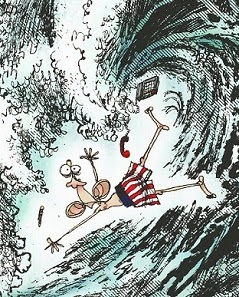 Ramirez: Obama on the Wave.