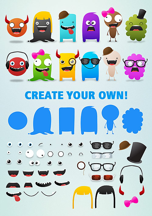 Free Cute Monsters Template  Selina Wing  Deaf Geek Blogger