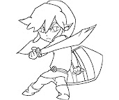 #13 Link Coloring Page