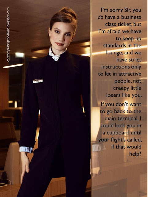 Femdom air stewardess