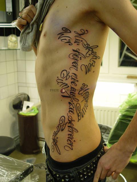 Rib cage tattoos for men quotes quotesgram for Guy rib tattoos