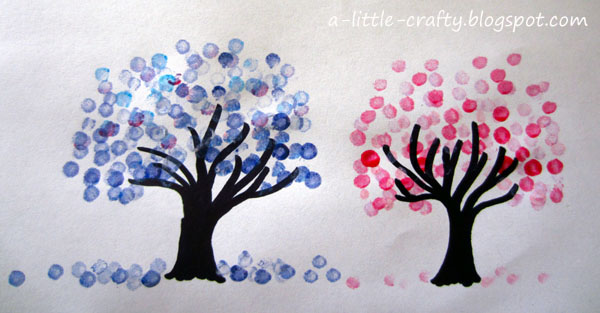 garage paint ideas pinterest - A Little Crafty Cotton Bud Tree Painting