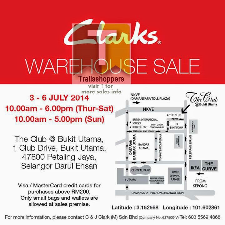 Clarks Warehouse Sale 1 Club Drive Bukit Utama