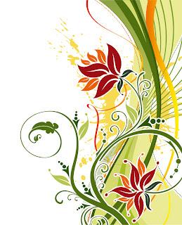 ファッショナブルな花の背景 Fashion Floral Background