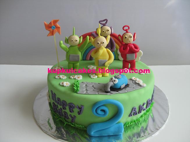 Kupkui Cakes Teletubbies Cake Happy Birthday Akbar