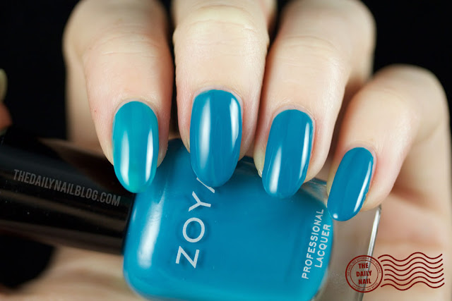 Zoya Island Fun Swatch, Talia, bright, creme, turquoise, blue
