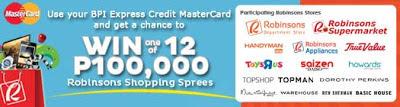 MasterCard, Robinsons Shopping Spree Raffle Promo