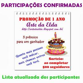 Lista de participantes da Promoção