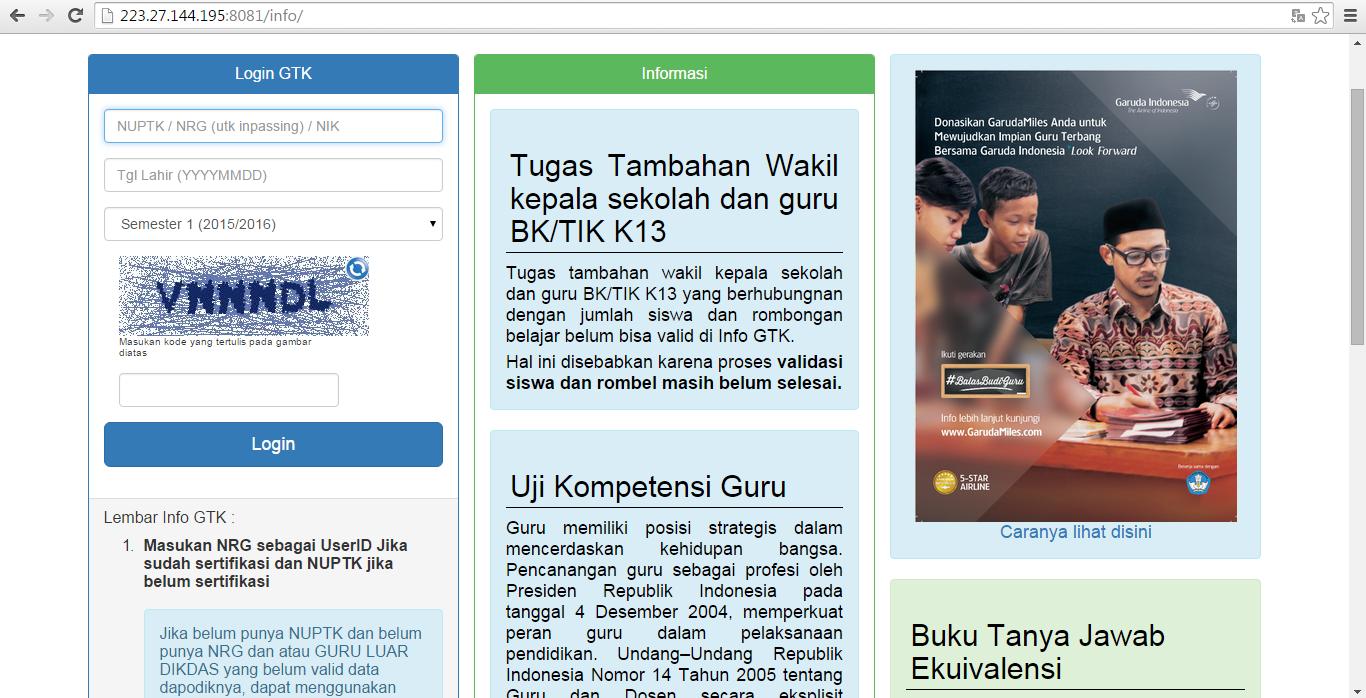 Website Resmi Uji Kompetensi Guru 2015 Informasi Dan Administrasi Guru