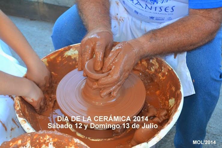 FIESTA DE LA CERÁMICA 2014, SÁBADO 12 Y DOMINGO 13 DE JULIO.
