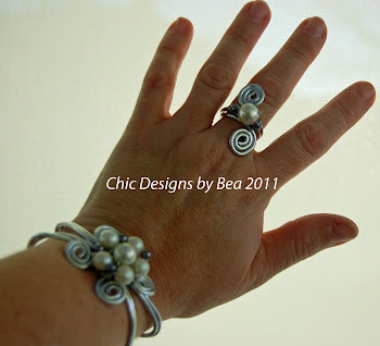 Wire Wrapped Cuff Bracelets and Rings