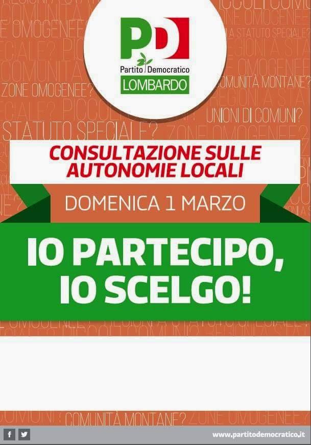 Consultazione sulle Autonomie Locali
