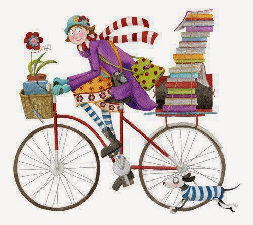 ...Read books, ride bikes...