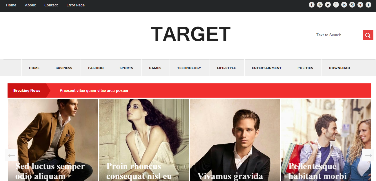 Download Target Free Blogger Template