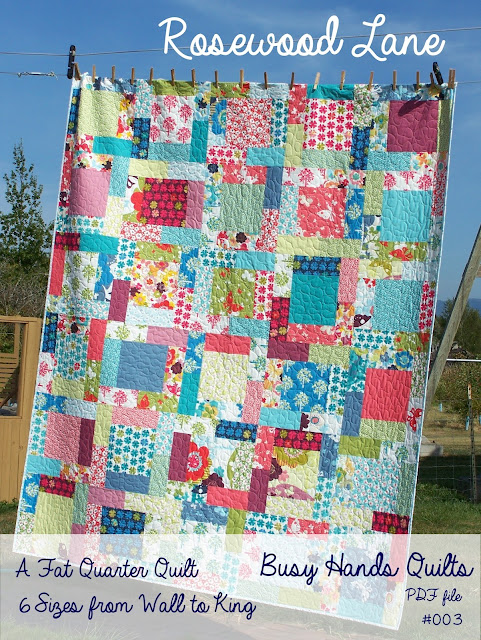 Rosewood Lane Quilt Pattern by Myra Barnes
