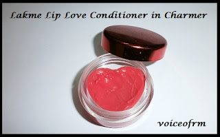 Lakme Lip Love Conditioner in Charmer packing, review and swatch