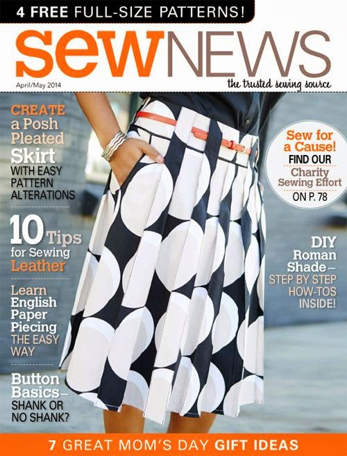 Zlata skirt by Stepalica on the cover of Sew News