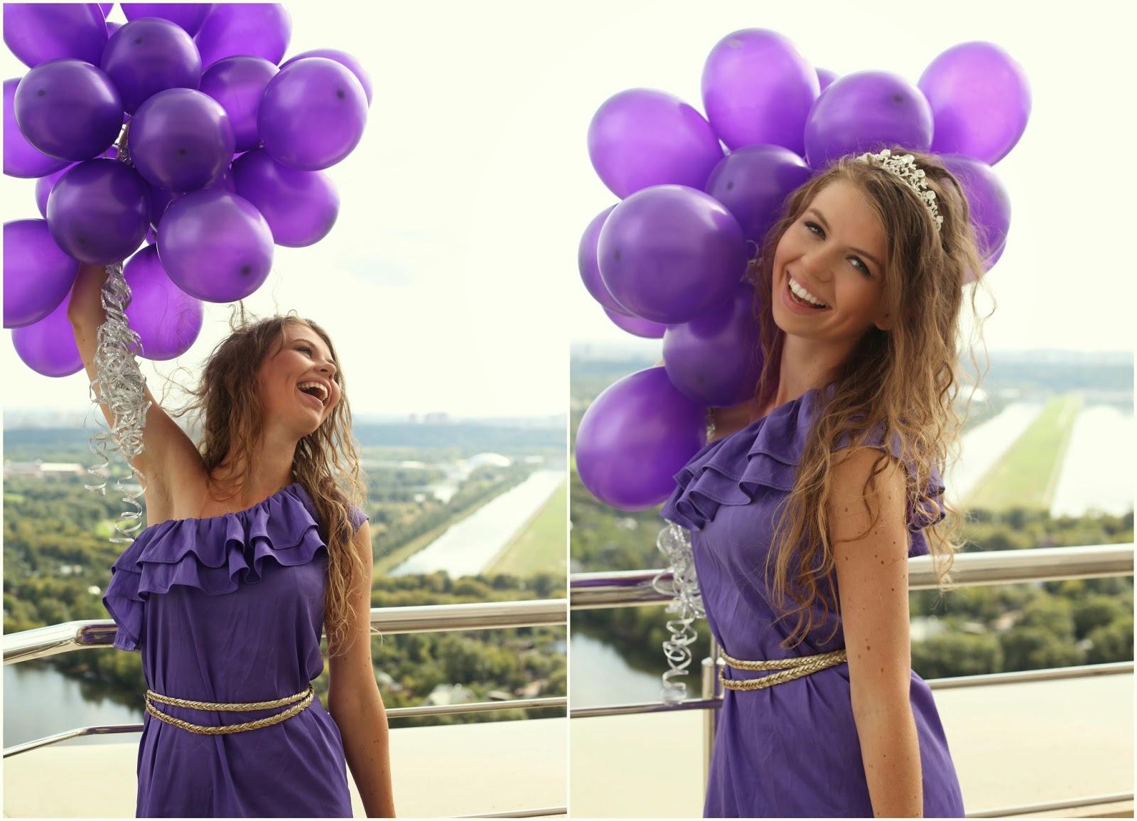 фото с воздушными шариками