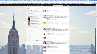 This is a screenshot of my activity on Twitter along with other people sharing sources.