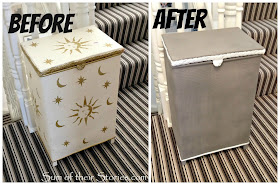 An old laundry basket given a revamp