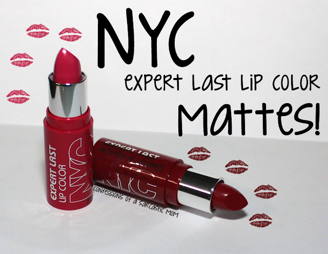 NYC Expert Last Lip Color Matte lipsticks