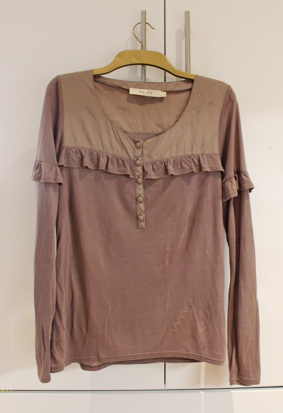 Reiss Jersey Ruffled Top - £20