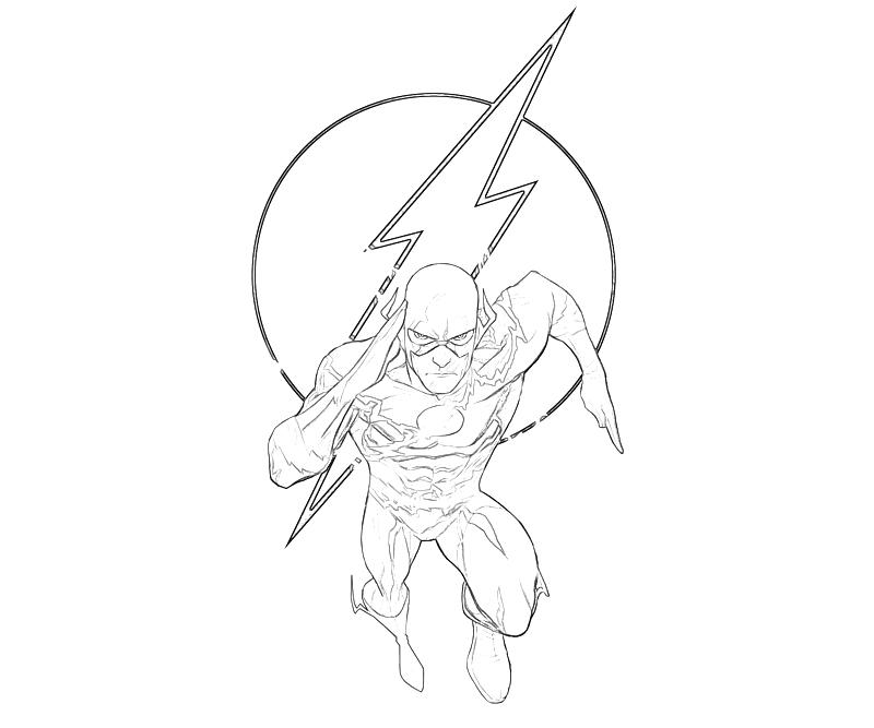 printable flash flash character coloring pages