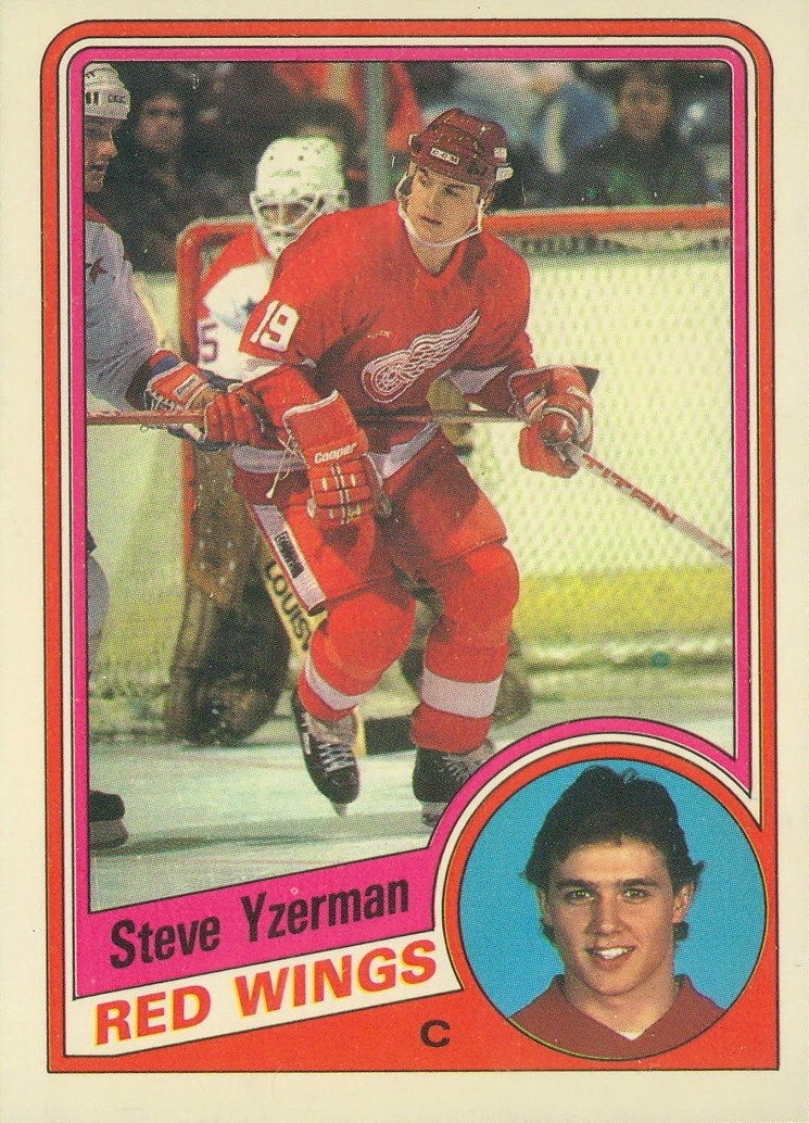 steve yzerman detroit red wings o-pee-chee rookie card