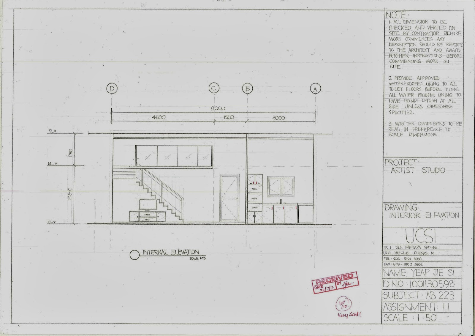 Plan Elevation Projection : Master piece assignment orthographic projection