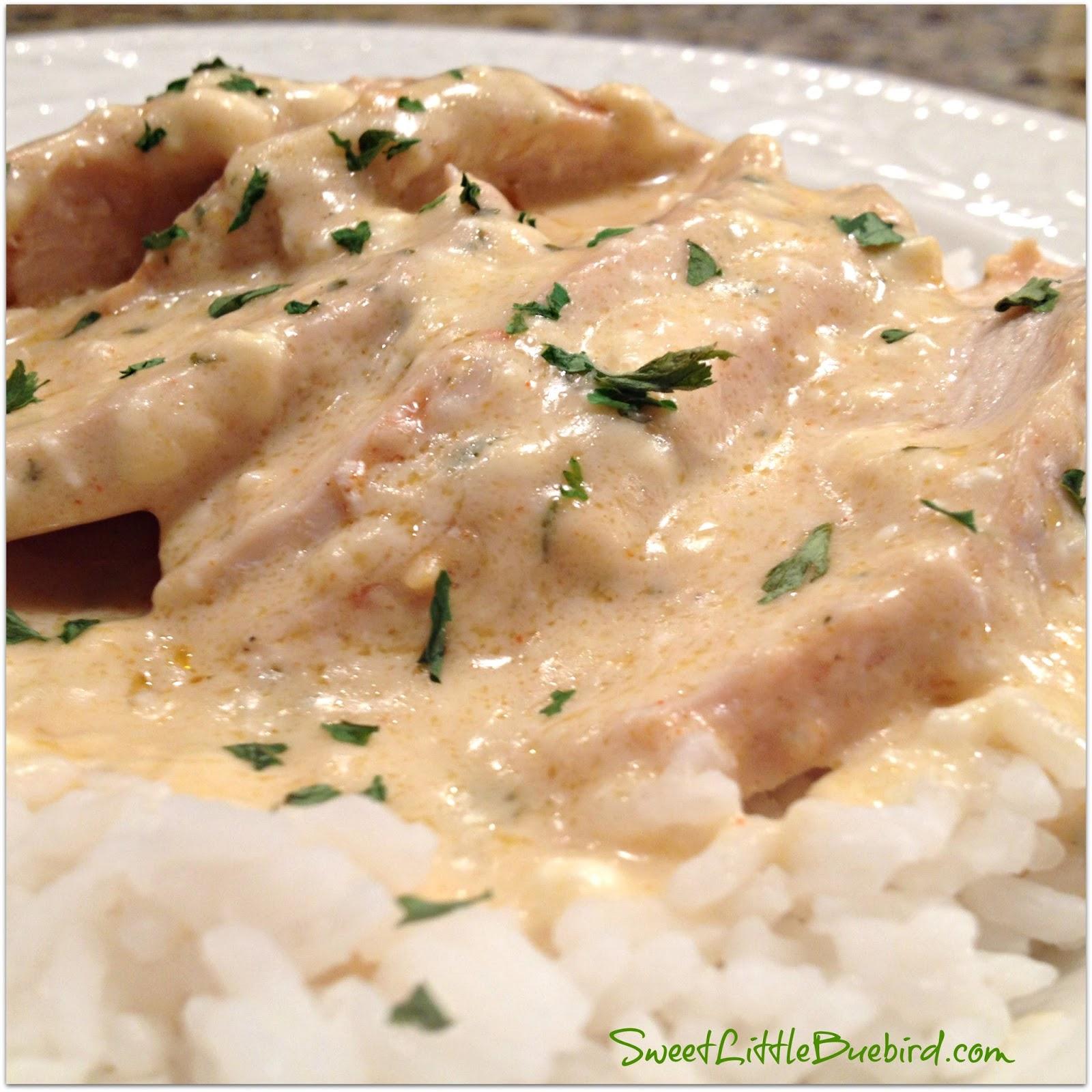 Creamy Ranch Chicken Crock Pot Or Oven Sweet Little Bluebird