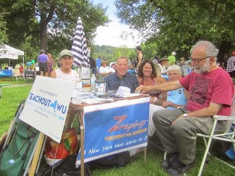 Activists Set up Table at a Labor Day Picnic....Does Anyone Do This for Andy ?