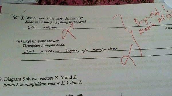 Image result for koleksi jawapan peperiksaan murid yang lucu