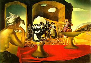 Mercado de esclavos con el busto invisible de Voltaire - Salvador Dalí