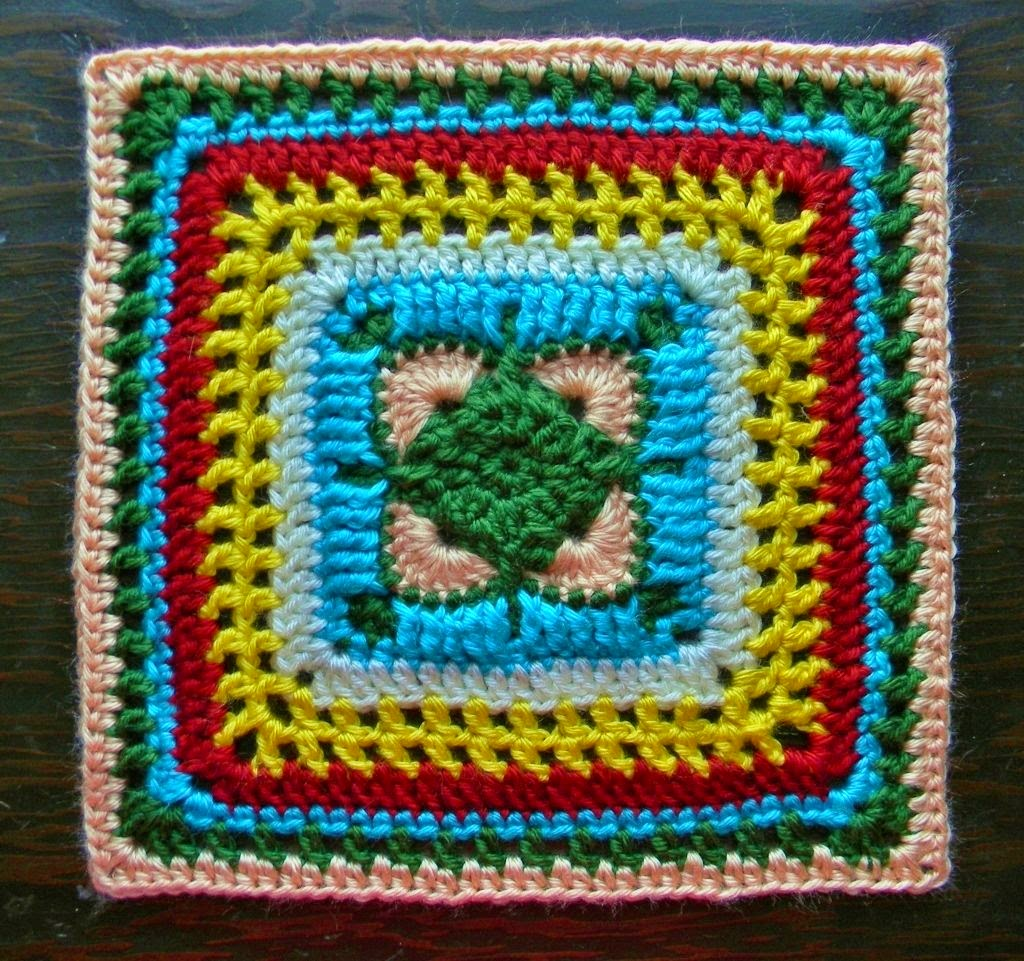 Free Crochet Pattern - Whimsical Block Granny Square