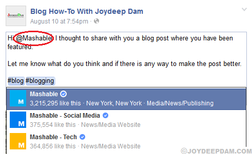 tag-influencer-in-facebook-post-to-reach-wider-audience-for-your-blog-post