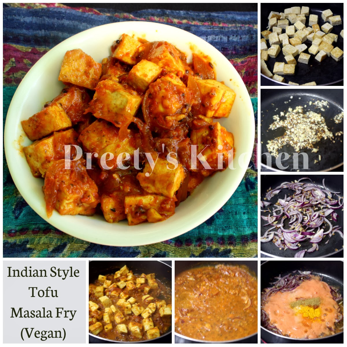 Preetys kitchen indian style tofu masala fry vegan recipe step turmeric powder or haldi 1 tsp red chilli powder 12 tsp garam masalapowder 12 tsp tofufirmdrained washed cut into cubes 1 12 or 2 cup forumfinder Gallery