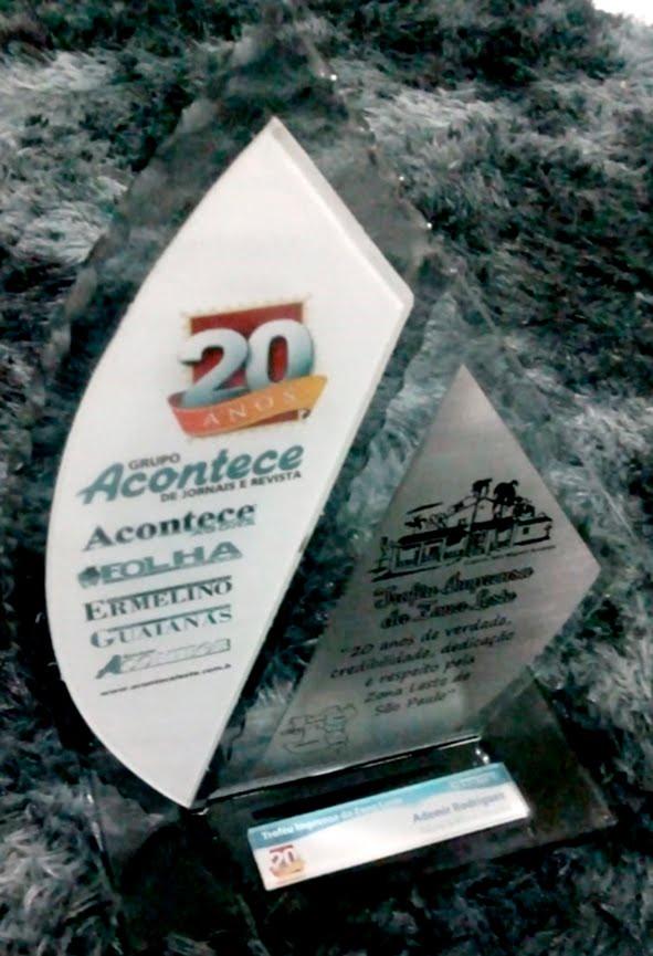 Prêmio recebido do Grupo Acontece