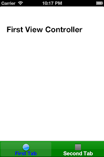 iOS UITabBarController First Tab