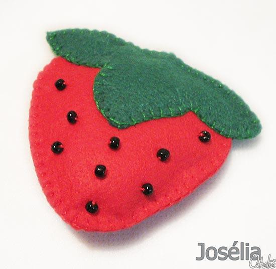 Josélia Ateliê Imãs de geladeira em feltro