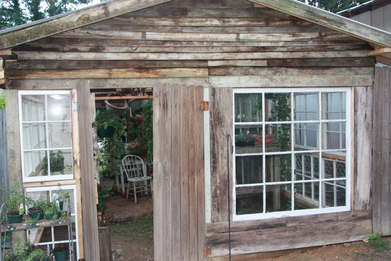 Painted by cheryl garden shed addition Shed addition