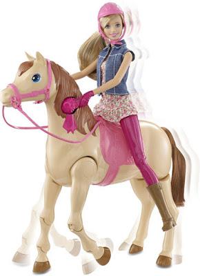 JUGUETES - BARBIE  Paseo a Caballo | Pack Muñeca + Caballo   Barbie Saddle 'N Ride Horse  Producto Oficial 2015 | Mattel CLD93 | A partir de 3 años
