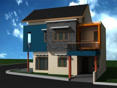 model rumah dengan desain yang minimalis dan modern