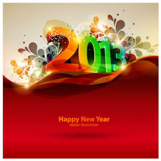 Newyear 3D vector Images 2013