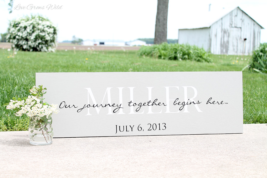 personalized with your wedding date! These signs also make great gifts ...