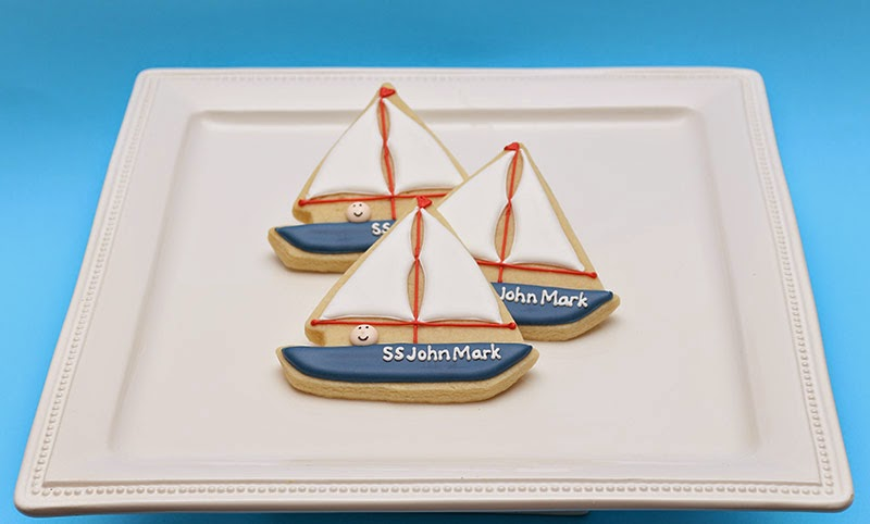 sailboat with baby cookies