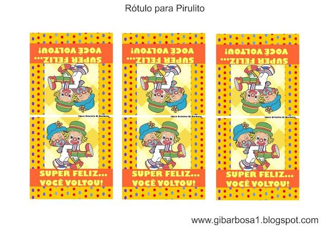Rótulo para Pirulito Patati Patatá Lembrancinha Volta às aulas