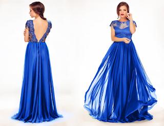 rochie albastra lunga 2