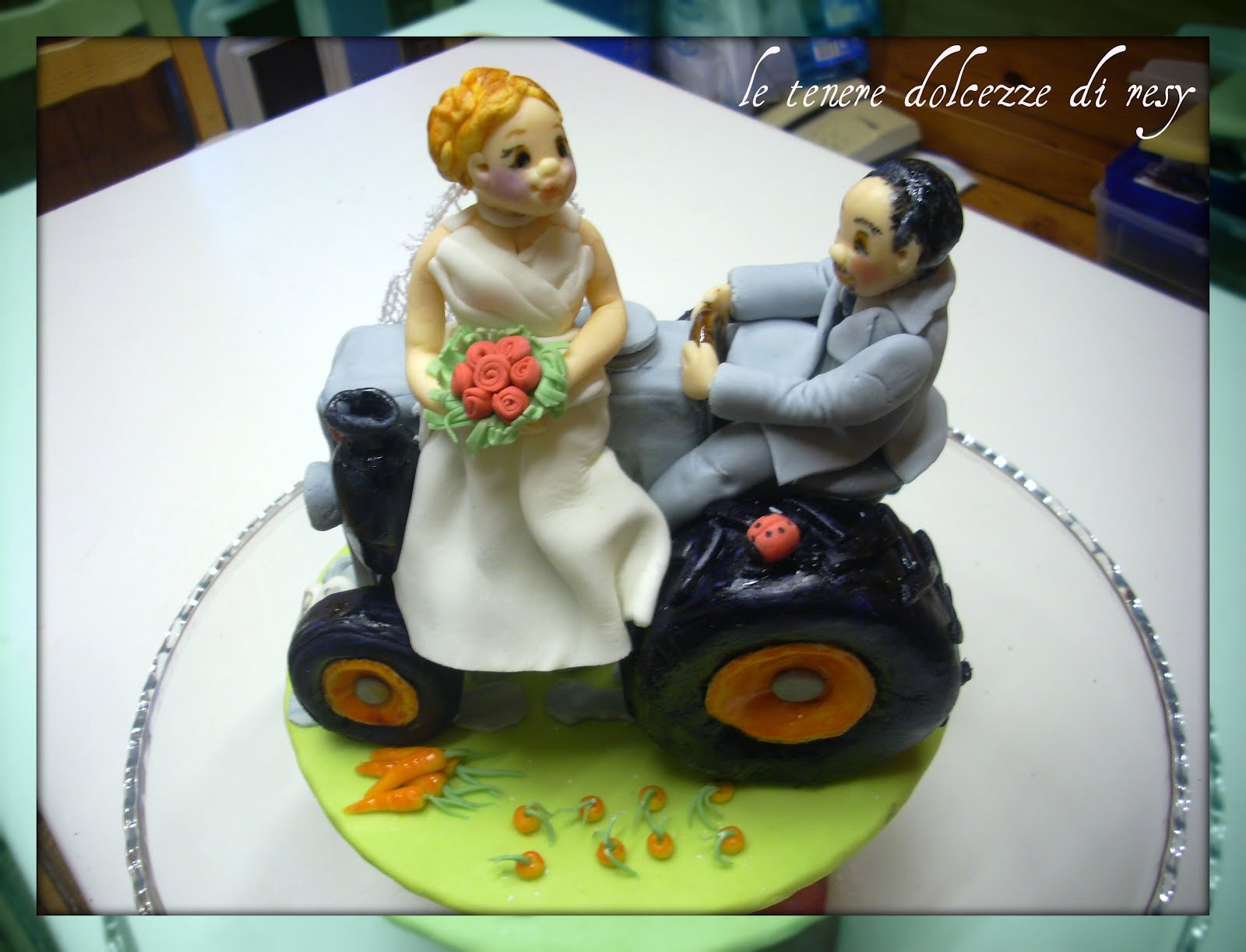 Pin Toppers Tractor Cake Bride And Groom Farmer Cake on