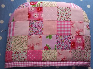 Pink patchwork tea cosy