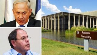 Brasil rejeita embaixador  e Israel ameaça o Itamaraty